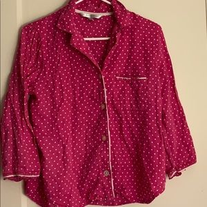 2 for $15 Victoria's Secret polka dot pajama top
